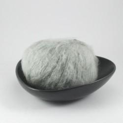 Laine mohair Soprane gris perle