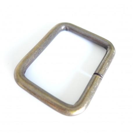 Boucle rectangle bronze design