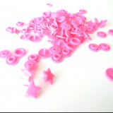 Pressions Kamfix étoile rose pâle
