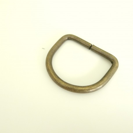 Anneau bronze demi rond 25 mm