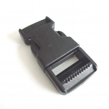Boucle clip noir 25 mm