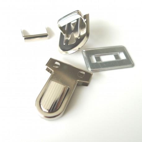 Fermoir cartable mini nickel