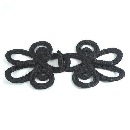 Brandebourg tissé noir 19 cm