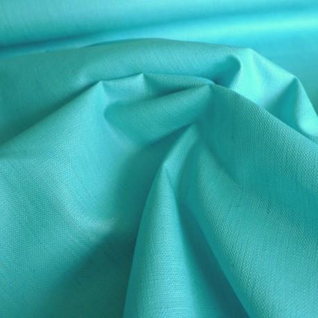 Lin enduit turquoise