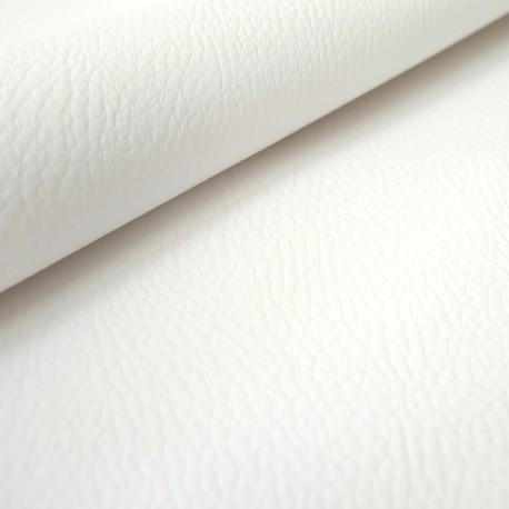 Simili cuir Karia blanc