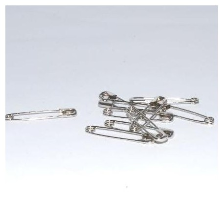 Epingles à nourrice nickel 38 mm