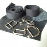 Kit à coudre Prissy laisse et collier chien cuir noir