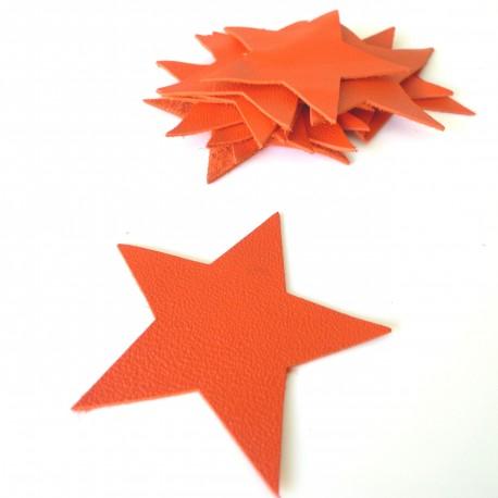 Etoile cuir orange