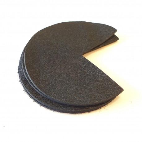 Coins de sacs cuir noir
