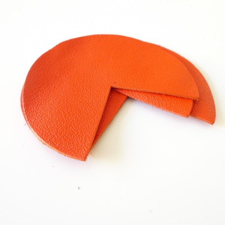Coins de sacs cuir orange
