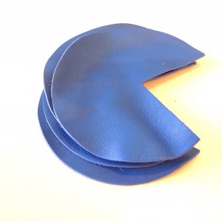 Coins de sacs cuir bleu roi