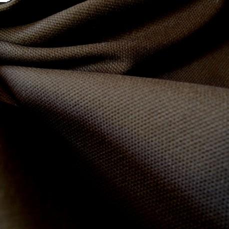 Tissu toile canevas marron