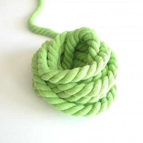 Cordon max coton vert