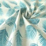 Tissu Palme blanc