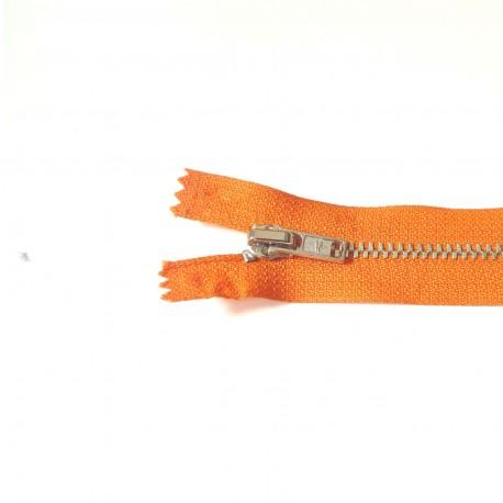 Fermeture à glissière métal orange